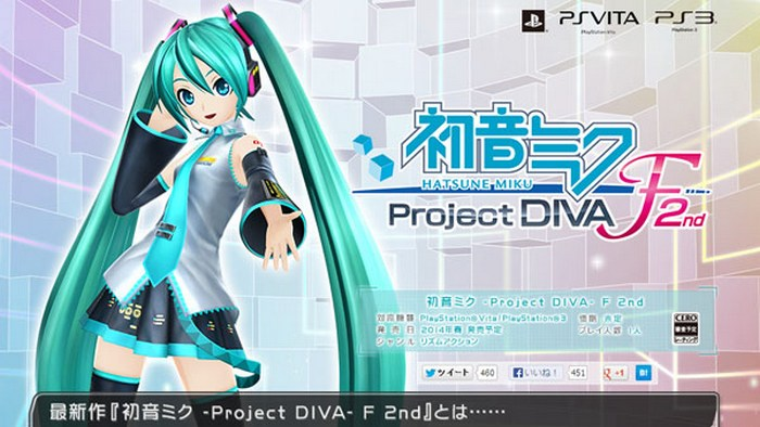 Video Promosi Preorder Hatsune Miku -Project DIVA F 2nd- Ditayangkan