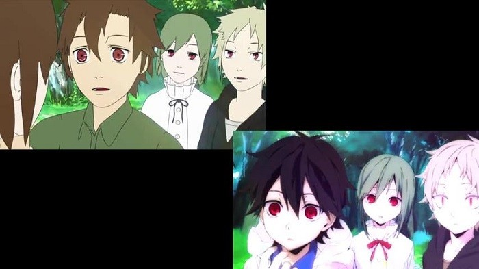 Video Perbandingan OP Episode 9 Mekaku City Actors Versi TV dan Blu-Ray